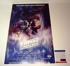 George-Lucas-Signed-Star-Wars-The-Empire-Strikes-Back-Movie-Poster-PSA-DNA-COA