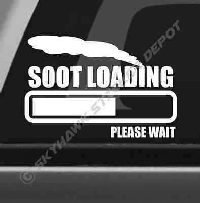 Soot Loading Funny Bumper Exhaust Sticker Vinyl Decal Diesel For Powerstroke