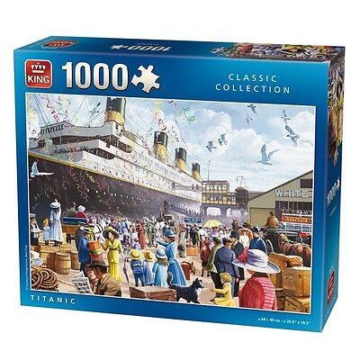 1000 Piece Jigsaw Puzzle The Titanic Boat Ship Maiden Voyage Southampton Docks