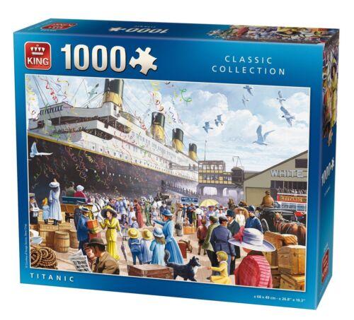 1000 Piece Jigsaw Puzzle Titanic bateau navire voyage inaugural Southampton Docks 5134