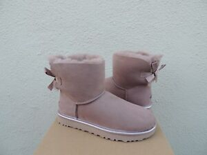 d1ff2295773 Details about UGG MINI BAILEY BOW II METALLIC DUSK SUEDE/ SHEEPSKIN BOOTS,  US 5/ EUR 36 ~NIB