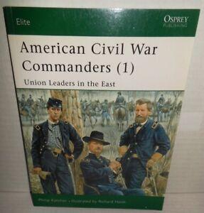 BOOK-OSPREY-Elite-73-American-Civil-War-Commanders-1-Union-East-2002-1st-Ed