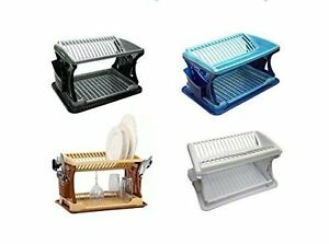 2-Tier-Large-Dish-Drainer-Rack-Tray-Utensil-Cutlery-Kitchen-Plate-Holder-Plastic