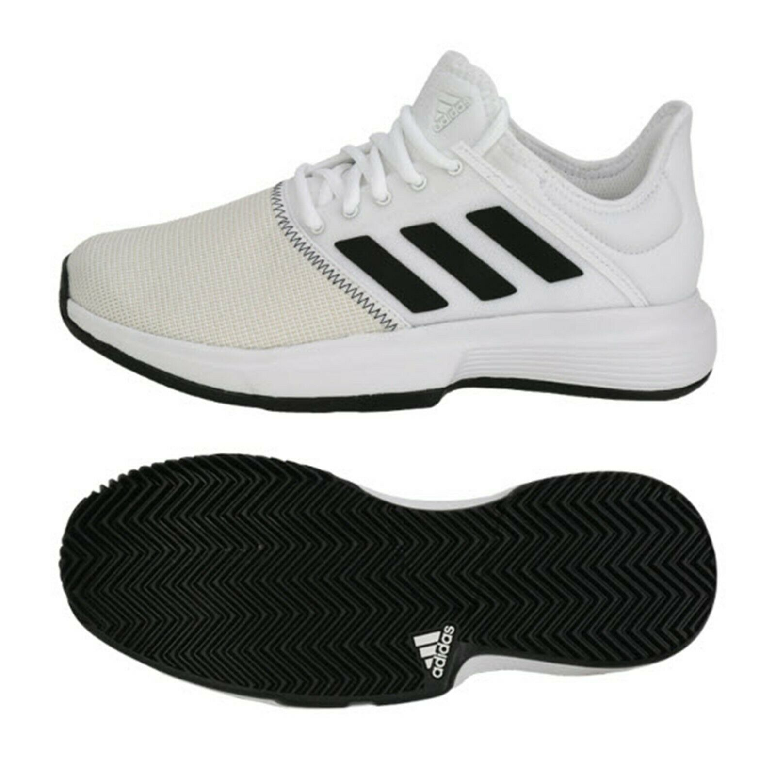 Adidas Hommes Game Court Tennis chaussures FonctionneHommest blanc Training paniers chaussures CG6336