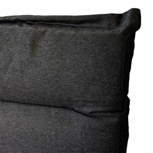 Hochlehner Polsterauflage 120x45x5cm Grau Sitzauflage Sitzpolster Sitzkissen