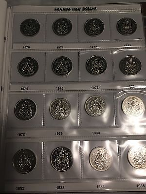 (30) Canada 50 cent half dollar collection lot.  Including 2003 WP!