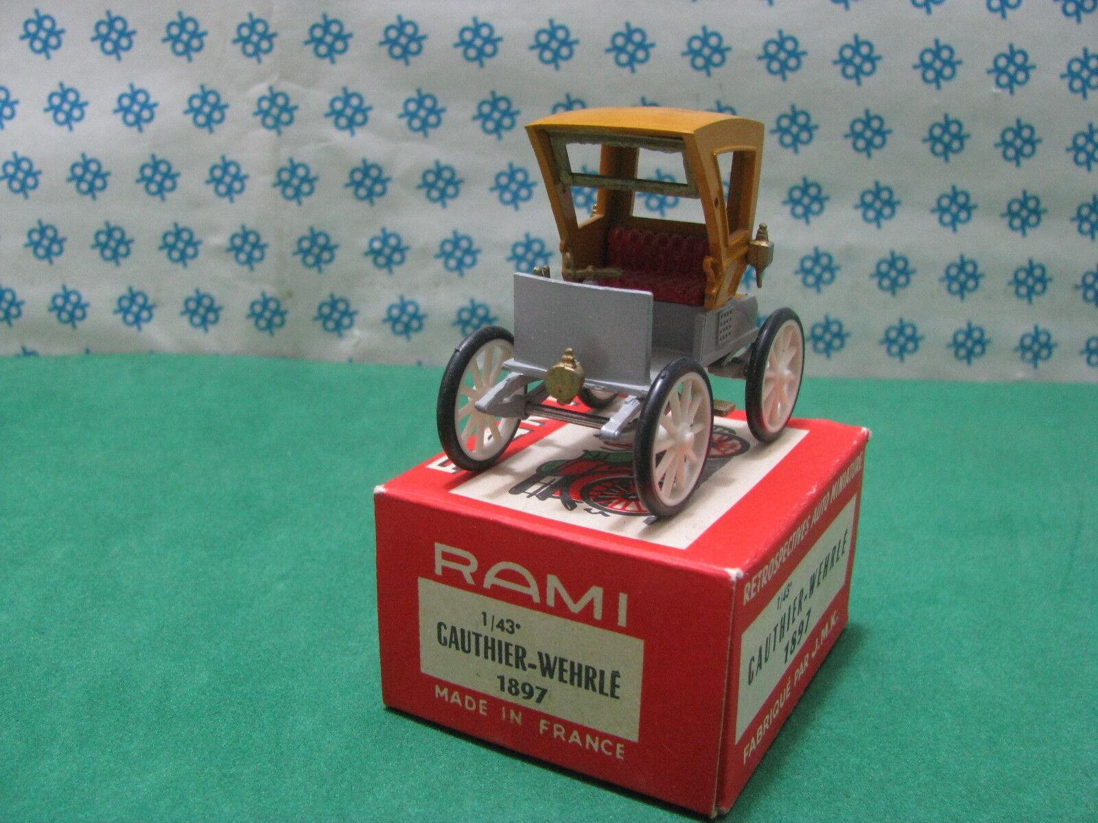 Vintage Rami N°12 - Gauthier-Wehrle 1897 - 1 43 France 1961
