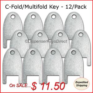 Kimberly-Clark-770101-key-for-C-Fold-Mutifold-Hand-Towel-Dispensers-12-pk