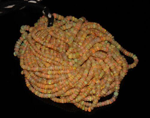 100/% natural 1 Strand 3 a 5 mm genuino WELO etíope cuentas de ópalo de fuego ** Q3