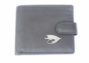 Fishing-Fly-Mens-Leather-Wallet-BLACK-or-Brown-Top-Quality-Fly-Fishing-Gift-130