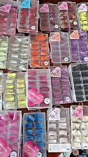 USA Lot /25 TIP JAR Cases Assorted GLITTER Nail Tips Acrylic CURVE DUCK STILETTO
