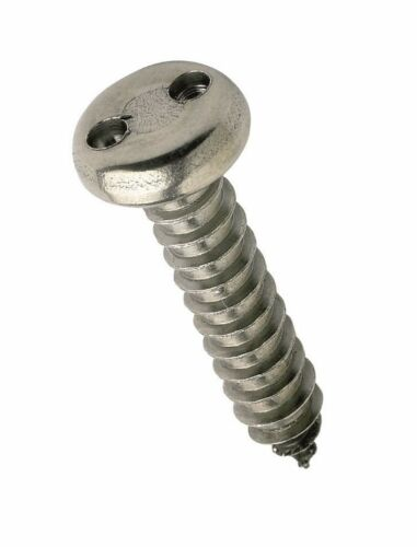 4.8 mm Qty 20 Pan Snake Eye 10g x 5//8 G304 Self-Tapping Security Screw