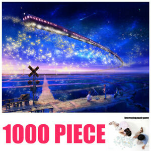 AU-DIY-Jigsaw-Puzzle-1000-Pieces-Family-Adult-Game-Kids-Decompression-Starry-Sky