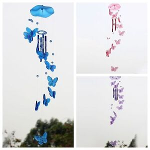 Image Is Loading Creative Crystal Butterfly Wind Chime Bell Ornament Garden