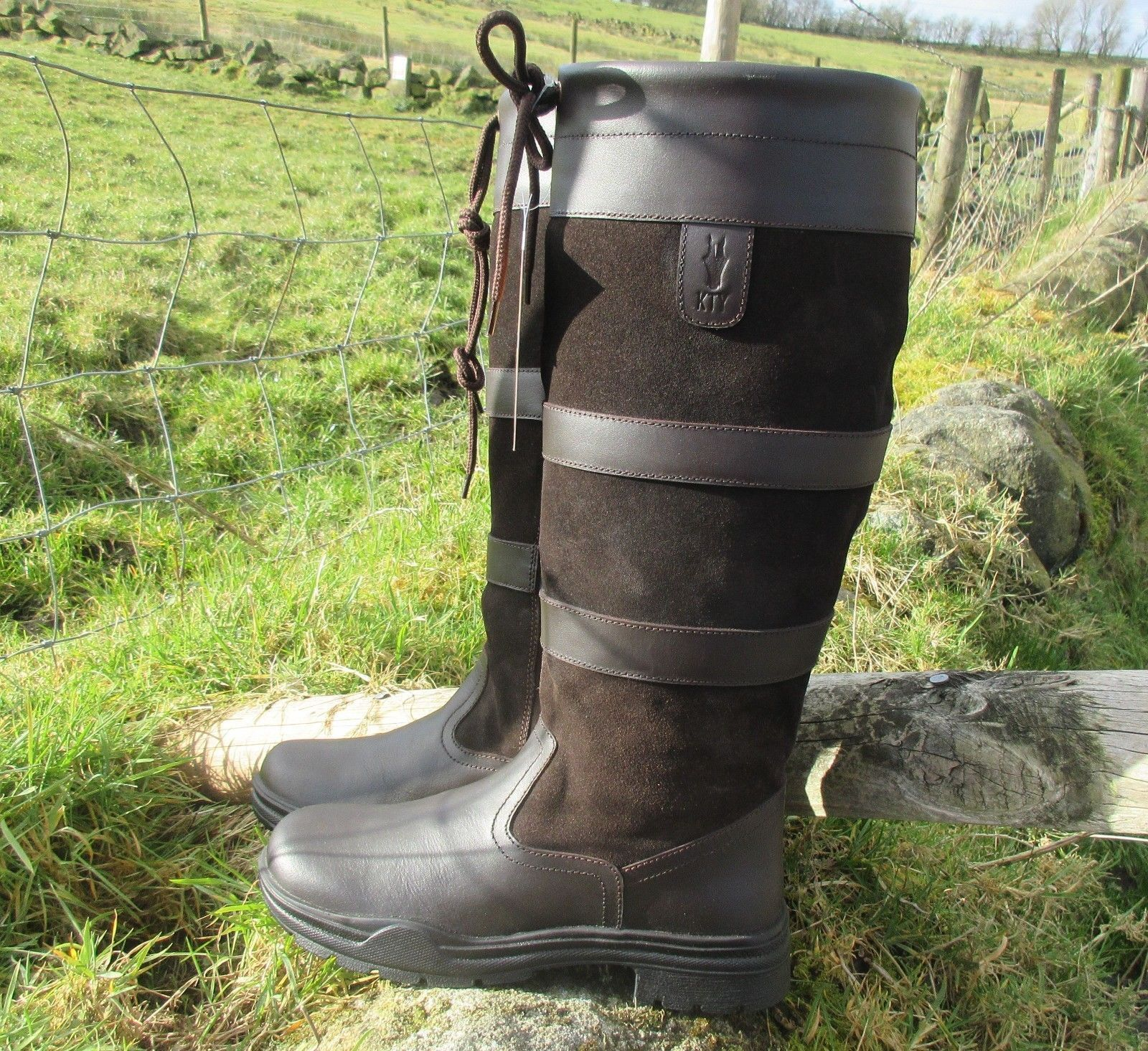 KTY Country    Riding Boots Value Long Leather Walking Quality Equestrian - cheap  great selection & quick delivery