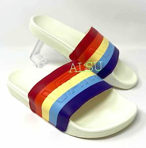 slide on rainbow vans