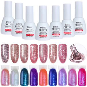 19-Colors-10ml-UV-Gel-Nail-Polish-Soak-Off-Rose-Gold-Holographic-Gel-Born-Pretty