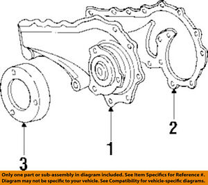 Details about Cadillac GM OEM 92-93 Seville 4.9L-V8-Water Pump Gasket on