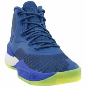 buy online ea53a f4e23 Image is loading adidas-D-Rose-8-Sneakers-Blue-Mens