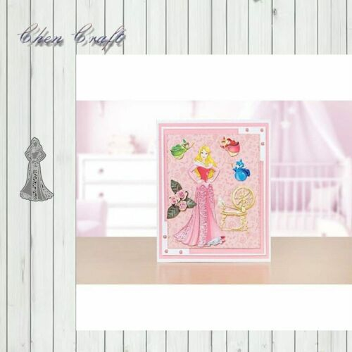 Slim Pretty Princess Metal Cutting Dies Stencils For Diy Scrapbooking Album Pape