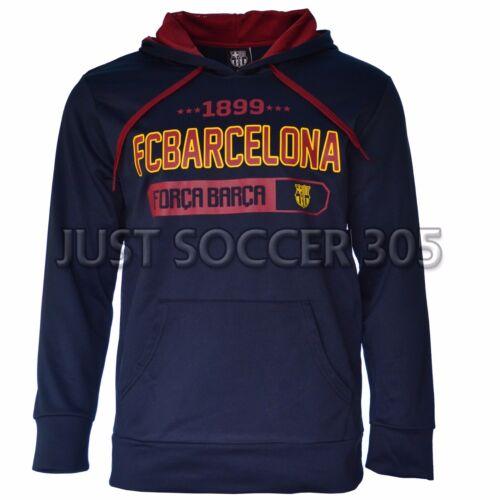 Fc Barcelona Hoodie Jacket fleece Soccer Adult Sizes Soccer Navy