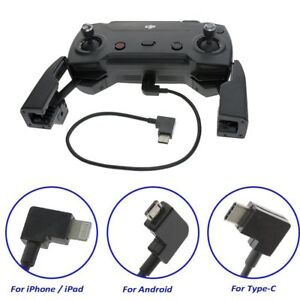 Micro-USB-Cable-Type-C-OTG-90-For-DJI-Spark-Mavic-Pro-Air-Transmitter-Control