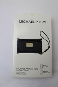 a325dd58f19f NIB Michael Kors Black Python Apple iPhone 4 or 3gs Case Wallet ...