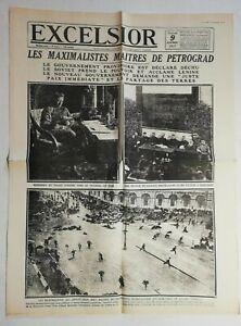 N972-La-Une-Du-Journal-Excelsior-9-Novembre-1917-Petrograd
