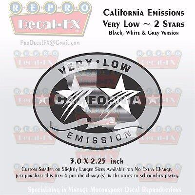 California Emissions Decals Dark Low 1 Star Outboard Evinrude Johnson Honda