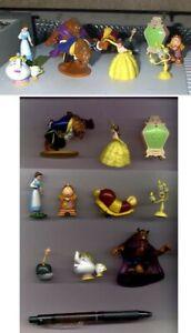 Raro-Set-10-Figuras-Coleccion-La-Bella-y-La-Bestia-Originales-Disney-Panini