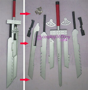"Final Fantasy 7 Cloud Strife Blade sword combined 52"" wood ... Final Fantasy Cloud Strife Sword"