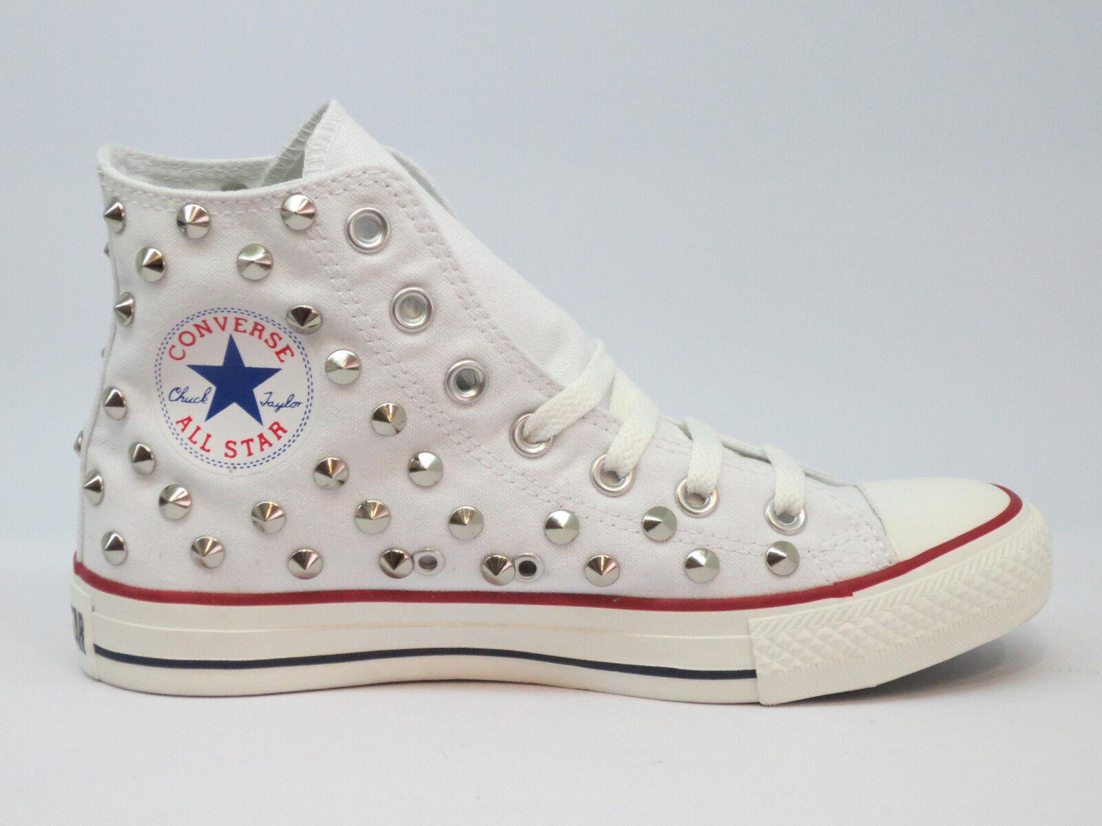 Converse all star Hi borch-ie scarpe donna- uomo bianco optical Blanc artigianali