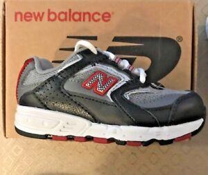 d5c029d73aa Little Boys New Balance 550 Tie Sneakers Silver Black Red Infants ...