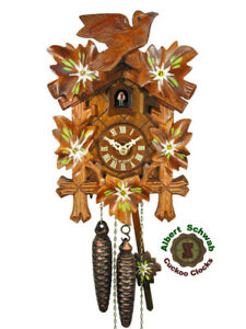 Black Forest Cuckoo Clock Edelweiss 9.5 inch NEW