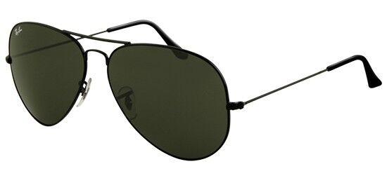 Ray ban 3026 62 Aviator L2821 Black Negro Sunglasses Gafas de Sol Lunettes G15
