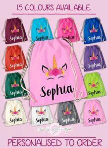 Personalised-Any-Name-Unicorn-Girls-Back-To-Drawstring-Bag-PE-GYM-School-Kids