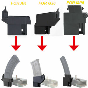 Portable M4 BB Speed Loader Konverter to Adapt Airsoft AK G36 MP5 Magazine Neu