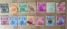 1949 Sultan Ibrahim  Johor 14 pc- set value up to $1 short set  very nice