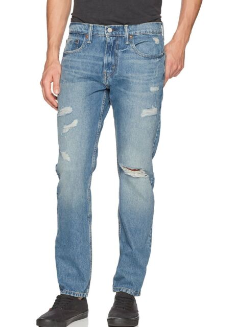 Levis 502 Herren Regular Fit Tapered Jeans Blau Straight Cut Hose für Männer