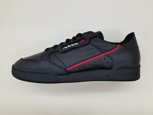 5292d5df ADIDAS ORIGINALS CONTINENTAL 80 BLACK NAVY BLUE RED MENS SIZE ...