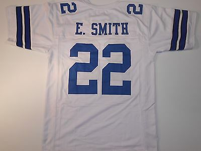 Dallas Cowboys Emmitt Smith UNSIGNED CUSTOM White Jersey - XL