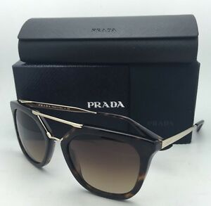 58cb70a6a03 New PRADA Sunglasses SPR 13Q 2AU-6S1 54-20 Tortoise   Gold Brown ...