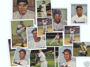 1952-New-York-Yankees-Bowman-Reprint-set-amp-1953-SIX-Bowman-Stars-Mickey-Mantle