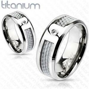 Titanium-White-Carbon-Fiber-Inlay-with-AAA-Grade-CZ-Accent-Ring-Band-6-13