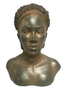 African-American-Bust-Antique-Rust-Color-Finish-Very-Unique-Ethnic-Finish