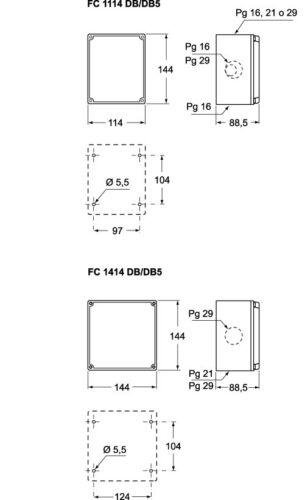 ILME FC 1414 DB SCATOLA DI DERIVAZIONE IP 44