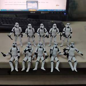 """Lot of 10pcs 3.75"""" Star Wars Stormtroopers OTC Trilogy Action Fiugre + Guns"""