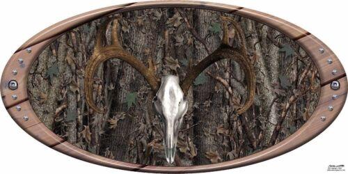 Deer skull oak ambush camouflage hunting vinyl graphic decal