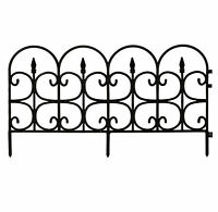 Plastic Garden Fence Border Decor Panels Fencing Landscape Lawn Edging 12 Pack