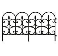 Plastic Garden Fence Border Decor Panels Fencing Landscape Lawn Edging 12 Pack
